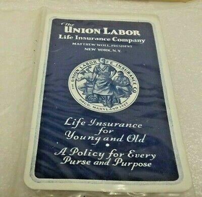 VINTAGE ULLICO NY NY ADVERTISING LIFE EXPECTANCY TABLE POCKET WALLET CARD