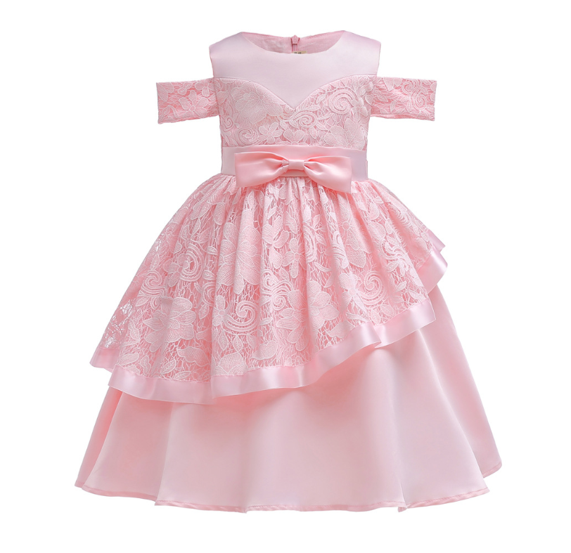 Girls Baby Party Tutu Dress Long Sleeve Wedding Bridesmaid Princess Dress ZG8