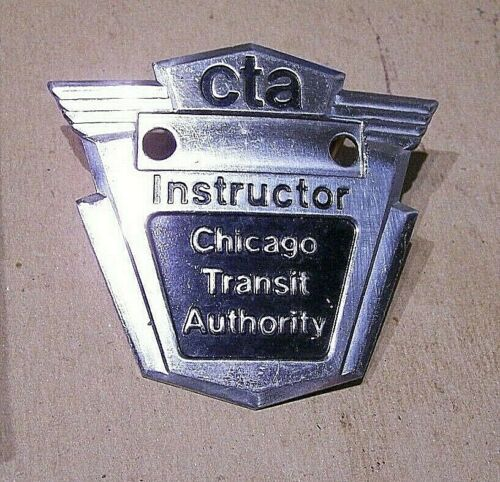 VINTAGE CTA ~ CHICAGO TRANSIT AUTHORITY INSTRUCTOR HAT BADGE