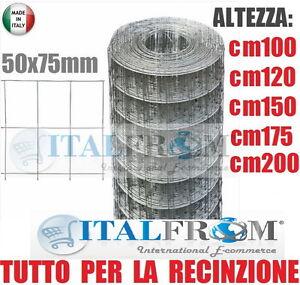 25mt-ROTOLO-RETE-METALLICA-ZINCATA-ELETTROSALDATA-MAGLIA-5x7-5cm-PER-RECINZIONE