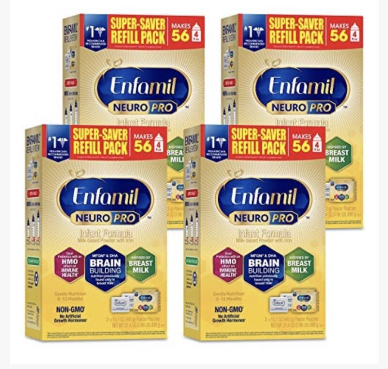 4 Enfamil NeuroPro Baby Formula Powder Refill Pack 31.4 oz 4 Pack FREE SHIPPING