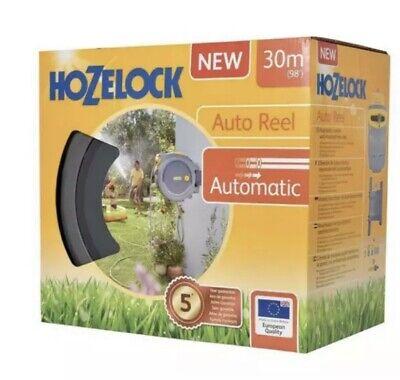 NEW Hozelock Auto Reel 30m Auto Retract Garden Wall Hose | UK STOCK FREE POST ✅