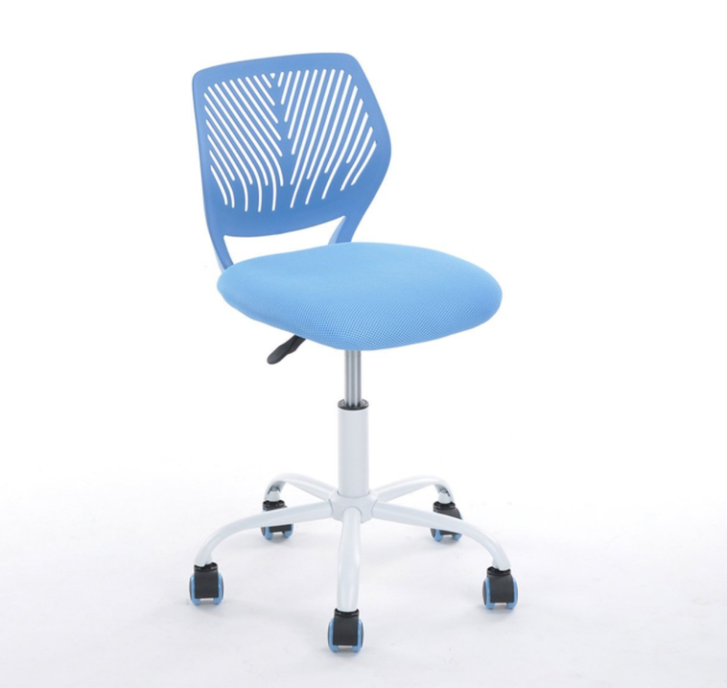 Cool Details About Desk Chair Mesh Back Support Blue With Wheels No Arms Kids Office Pc Computer Machost Co Dining Chair Design Ideas Machostcouk