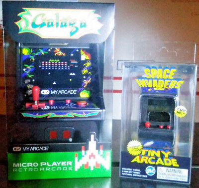 *Set of 2* Galaga & Space Invaders Arcade Games Micro Player Atari Video USA NEW