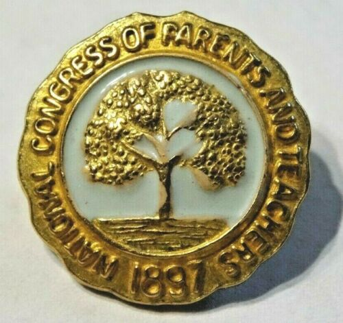 NATIONAL CONGRESS OF PARENTS AND TEACHERS ~ VINTAGE GOLD TONE LAPEL PIN