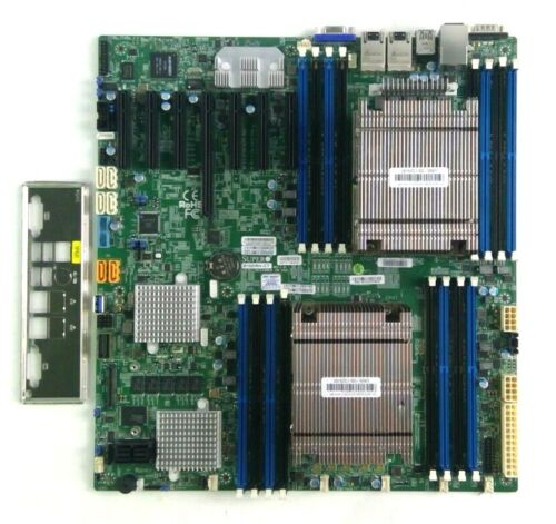 Supermicro X10DRH-CT Motherboard Comes with Dual Heatsinks and I/O plate