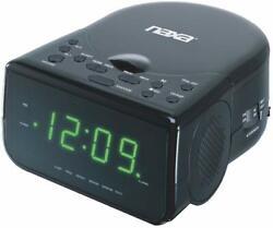 New Naxa Digital Dual Alarm Clock CD Player AM/FM Stereo Speakers LED Display