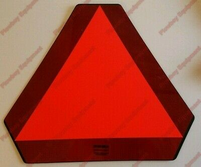 Smv Slow Moving Vehicle Plastic Sign For Tractor Combine Skid Steer Baler Wagon