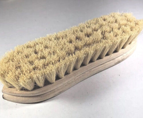 """Weiler Scrub Brush 9"""" Wood Block Size, Pointed End, White Tampico Fill"""