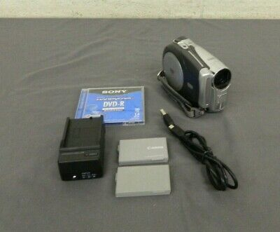 Canon Optura DC220 DVD Camcorder w/35x Optical Zoom 2x Batteries Charger & Disc