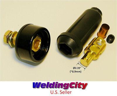 Welding Cable Twist-lock Panel Socket Connector Pair 6-4 16-25mm Us Seller