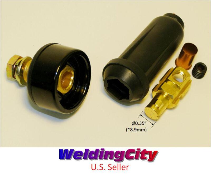 Welding Cable Twist-lock Panel Socket Connector Pair #6-#4 16-25mm US Seller