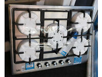 z104 stainless steel beko 5 burner gas hob new graded with 12 month warranty can be delivered
