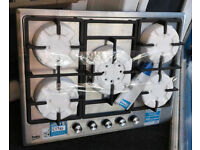 E104 stainless steel beko 5 burner gas hob new graded with 12 month warranty can be delivered