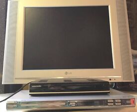 LG LCD TV with Phillips DVD Player and Grundig Set Top Box