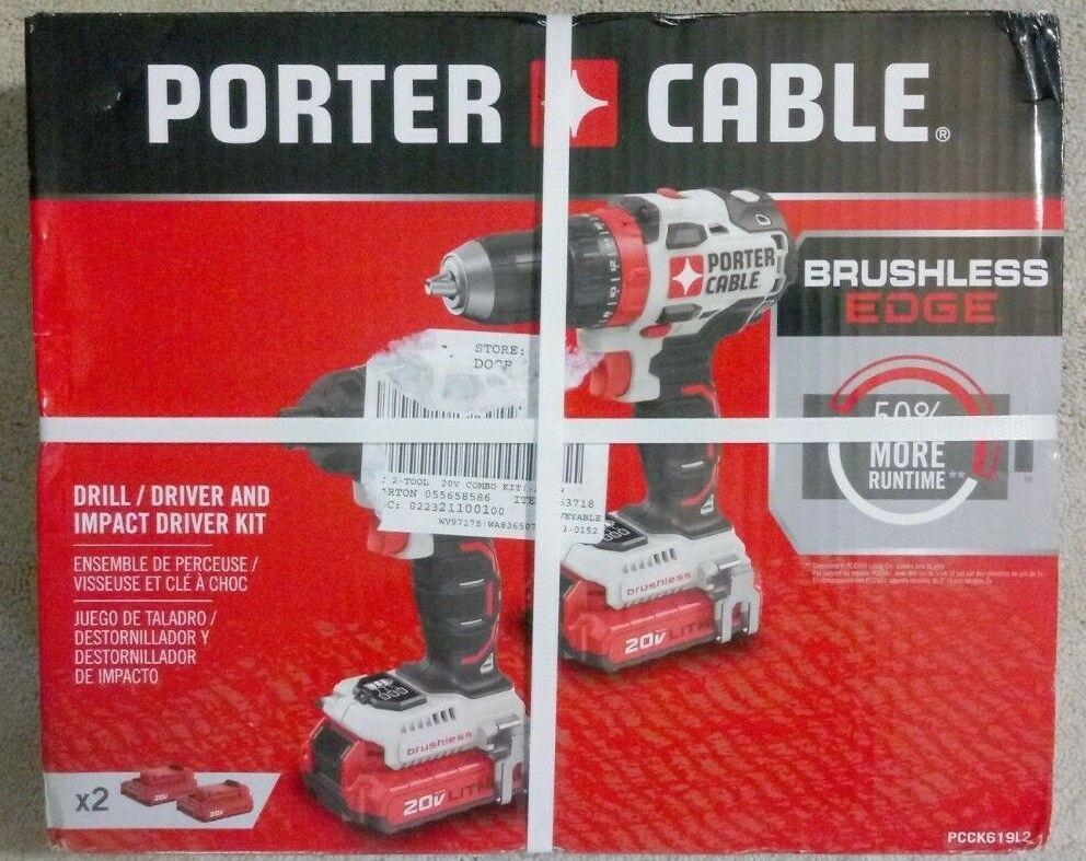 PORTER CABLE 2 Tool 20V Max Brushless Power Tool Combo Kit P
