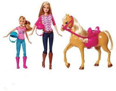 NEW!! Mattel BARBIE PINK-TASTIC HORSE & DOLLS Set - Barbie & Stacy Dolls