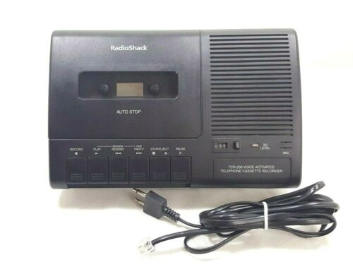 Radio Shack Telephone Voice-Activated Cassette Recorder TCR-200 w/ Phone Cord