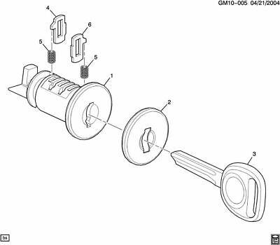 Cadillac Pontiac OEM Compartment Door Lock Cylinder Kit GM 20766966