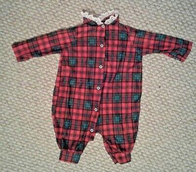 Vintage PLAYSKOOL Baby Girl Gerber Onesie sleeper size 3-6 months Christmas Vintage Baby Onesies