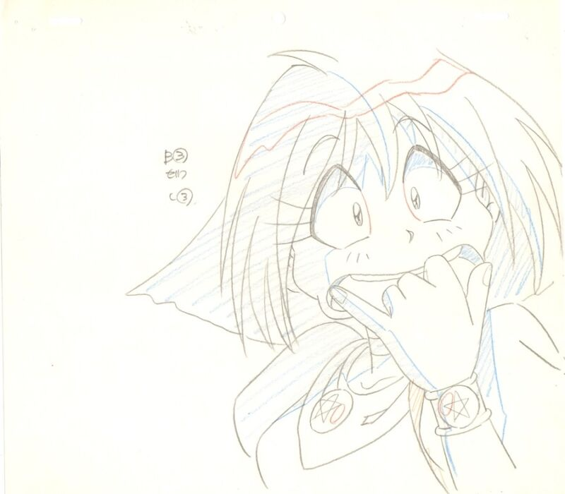 Anime Genga not Cel Slayers #173