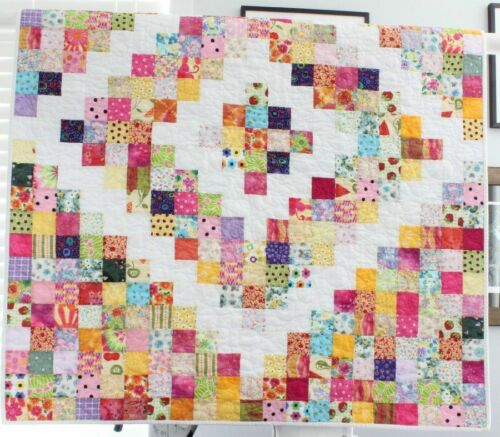 SCRAPPY SQUARES ~ New Handmade Baby Girl / Toddler Quilt