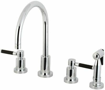 Kingston Brass Kaiser 8-Inch Widespread Kitchen Faucet, Polished Chrome New