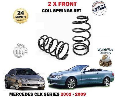FOR MERCEDES CLK280 CLK320 CLK220 CLK270 CDI 2002-> 2x FRONT COIL SPRINGS SET
