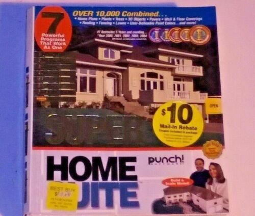 Super Home Suite PC CD RETAIL BOX 3D Home Design Model Software Windows XP