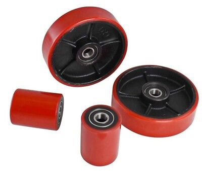 Brand New Pallet Jacktruck Wheels Set 4 Pcs With Bearings Poly Tread