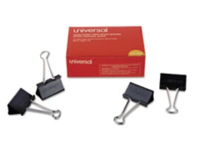 Universal Large Binder Clips Steel Wire 1 Capacity 2 Wide Blacksilver Do