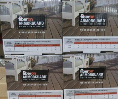 4 Boxes NEW Fiberon ArmorGuard Hidden Deck Fastener Kits