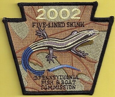 Pa Pennsylvania Fish Commission 2002 Five Lined Skink Non