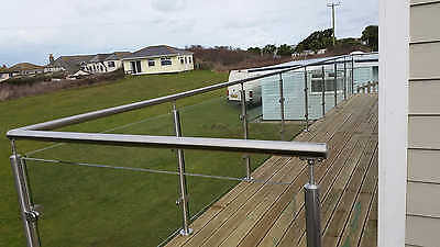 Stainless Steel Glass Balustrade.Handrail / balcony / bannister /Garden railings