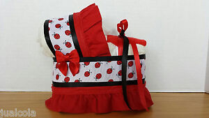 LADYBUG-RED-WHITE-BLACK-DIAPER-BASSINET-CARRIAGE-BABY-SHOWER-TABLE-DECORATION