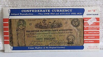"""CONFEDERATE CURRENCY UNIQUE REPLICAS OF THE ORIGINAL CURRENCY  SET""""A"""""""