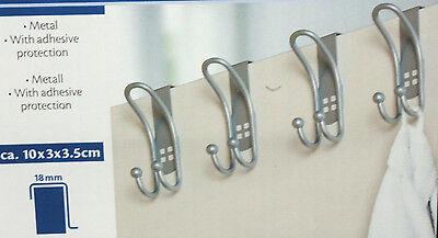 4 Türhaken Türgarderobe Türhänger Kleiderhaken Haken Edelstahl