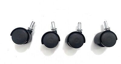 Set Of 4 1.5 Inch Swivel Caster Wheels Insert Stem Caster Wheel M8 Unthreaded