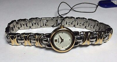 NOS 1990's Seiko Ladies Two-toned Watch Ref. SWX314P