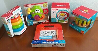 Lot 5 High Contrast Baby Toddler Fisher Price Developmental Toys Ring Phone Ball