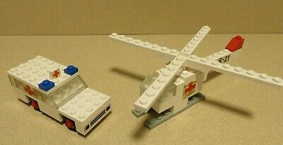 Lego 460 Rescue Units ambulance helicopter Legoland hospital Complete, no subs