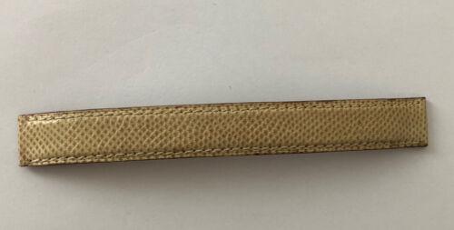 Bracelet pour montre poiray en cuir lezard beige 15 mm largeur @ strap 125 mm