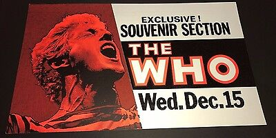 THE WHO Maple Leaf Gardens Toronto Concert Poster 1982