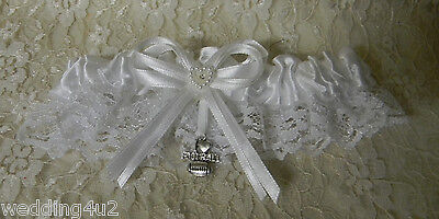 Wedding Party Ceremony Sport Theme ~I Love Football~ Satin & Lace Garter - Sport Theme Party