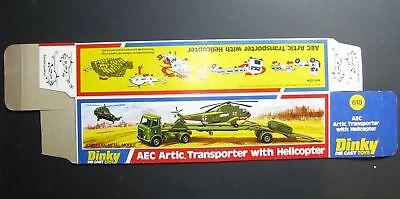 Dinky 618, AEC Artic Transporter w. Helicopter - Original Box / Boîte seule MINT