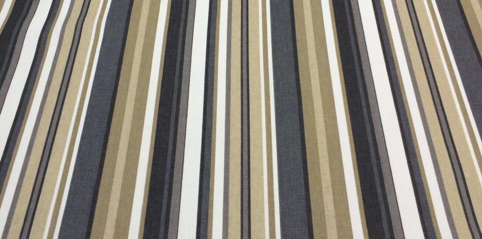 P KAUFMANN PATIO STRIPE CHARCOAL Furniture Upholstery Fabric
