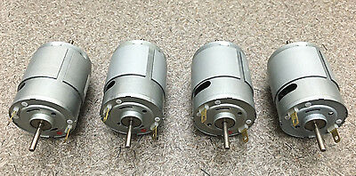 Mabuchi 12v Dc Motor 2100-2900 Rpm Dual Shaft Hobbies Rc Cars Lot Of 4 Motors