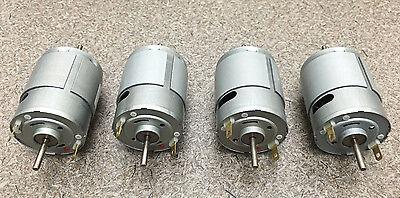 Mabuchi 12v Dc Motor 2100-2900 Rpm Dual Shaft Hobbies Rc Cars Lot Of 4 Motors