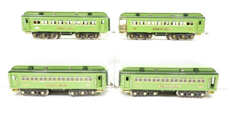 MTH 10-1068 Standard Guage Stephen Girard Passenger Set of 4 Cars LN