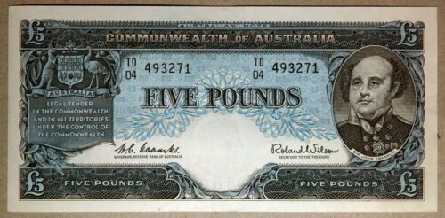 1960 Five Pound Coombs/Wilson R50 aUncirculated